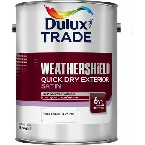 Dulux Trade Weathershield QD Satin PBW (select size)