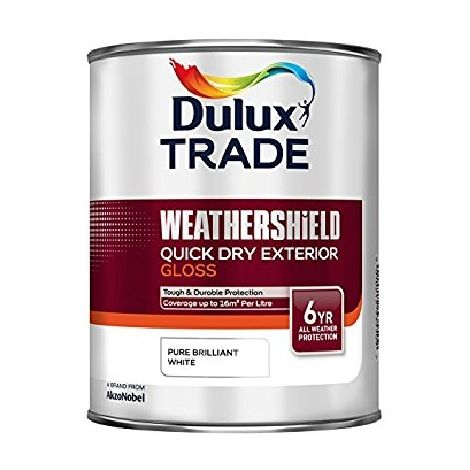 Dulux Trade Weathershield Quick Dry Exterior Gloss PBW (select size)