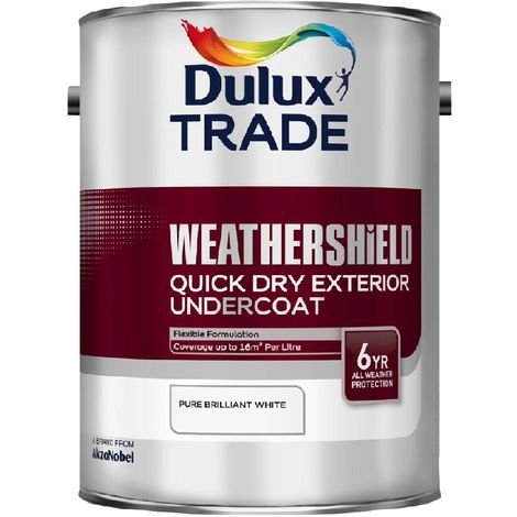 Dulux Trade Weathershield Quick Dry Exterior Gloss Undercoat PBW (select size)