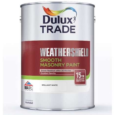 Dulux Trade Weathershield Smooth Masonry (select colour & size)