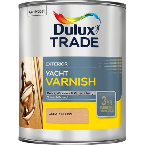 Dulux Trade Weathershield Yacht Varnish (select size)
