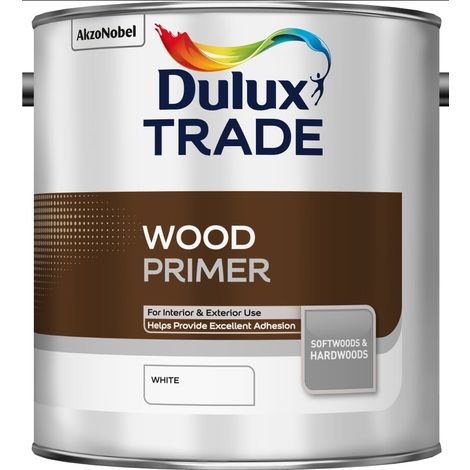 Dulux Trade Wood Primer White (select size)
