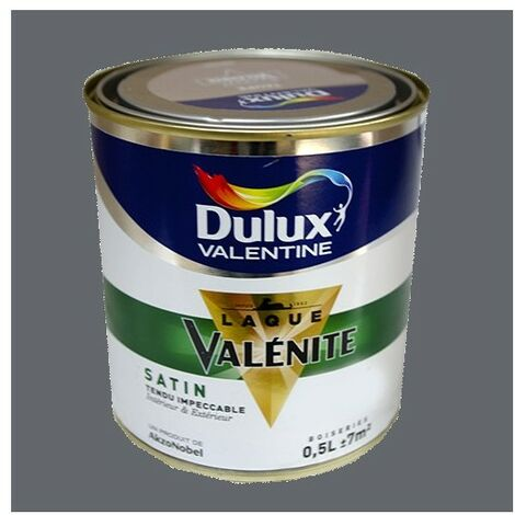 DULUX VALENTINE Laque Valénite Satin Anthracite 0,5 L - Anthracite