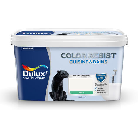Dulux Valentine Peinture acrylique Color Resist Cuisine & Bain Bleu fjord - 2 L