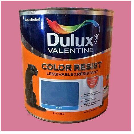 Dulux Valentine Peinture acrylique Color Resist Ultra rose Mat - 2,5 L