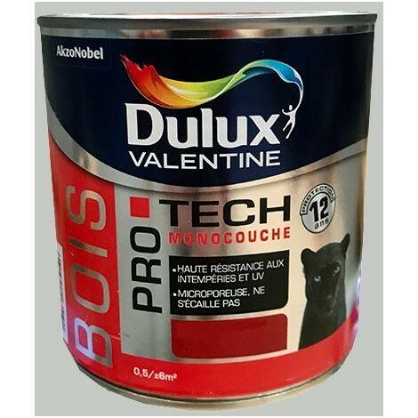 DULUX VALENTINE Peinture Bois PRO TECH Gris clair - 0,5 L