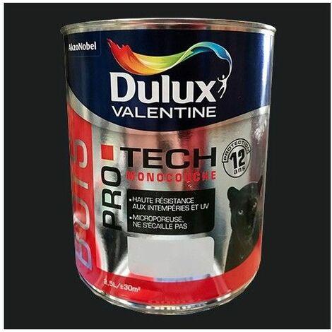 DULUX VALENTINE Peinture Bois PRO TECH Noir - 2,5 L