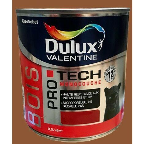 DULUX VALENTINE Peinture Bois PRO TECH Teck - 0,5 L