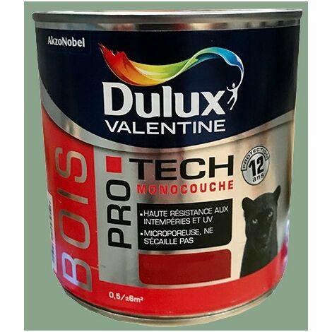 DULUX VALENTINE Peinture Bois PRO TECH Vert anis - 0,5 L