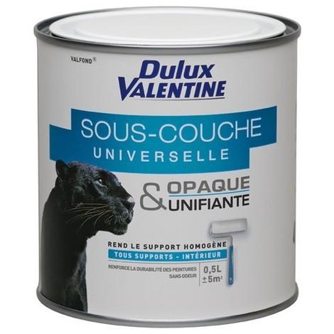 DULUX VALENTINE - Peinture sous-couche universelle acrylique - blanc - 0.5 L