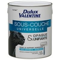 DULUX VALENTINE - Peinture sous-couche universelle acrylique - Valfond - blanc - 2.5 L