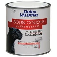 DULUX VALENTINE - Peinture sous-couche universelle glycéro - blanc - 0.5 L