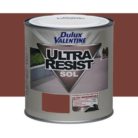 DULUX VALENTINE Ultra Résist Sol Rouge Carrelage - 0,5 L