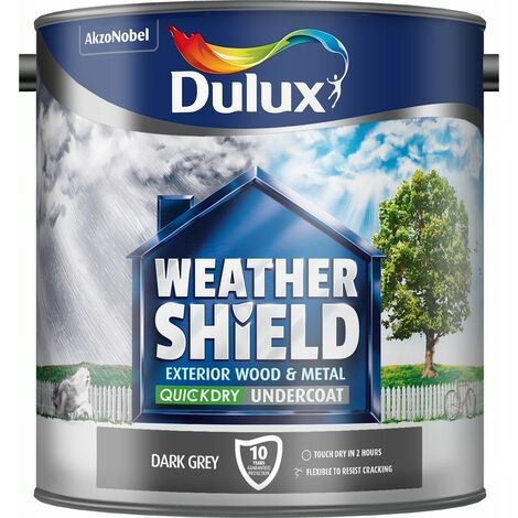 Dulux WeatherShield Quick Dry Exterior Undercoat Dark Grey 2.5L