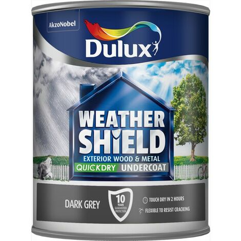 Dulux Weather Shield Exterior Dark Grey Undercoat 2.5l / 750ml Resist Cracking