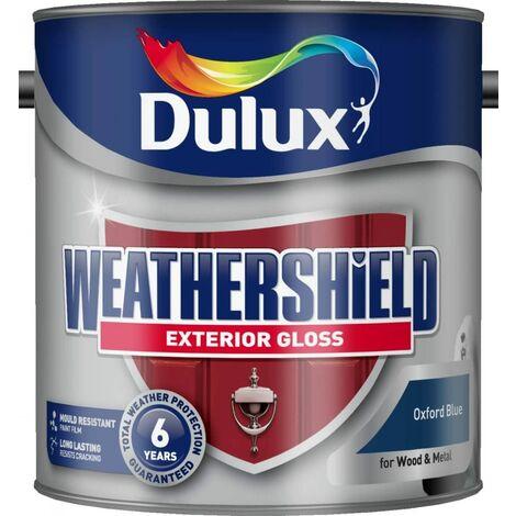Dulux Weathershield Exterior Gloss 2.5L Oxford Blue