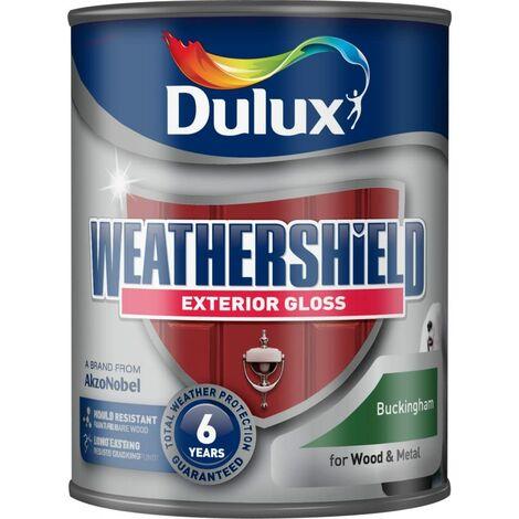 Dulux Weathershield Exterior Gloss 750ml Buckingham