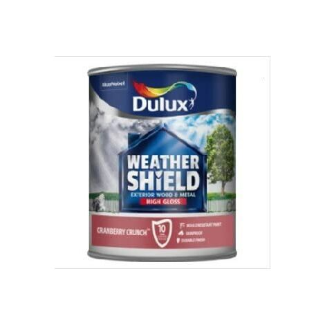Dulux Weathershield Exterior Gloss 750ml Cranberry Crunch