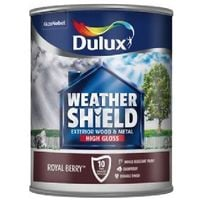 Dulux Weathershield Exterior High Gloss Paint - All Colours and Sizes