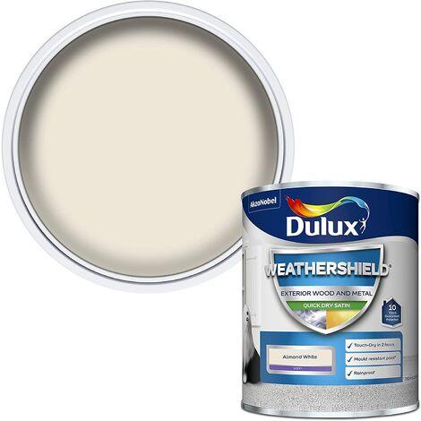 Dulux Weathershield Exterior Satin 750ml Almond White