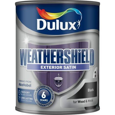 Dulux Weathershield Exterior Satin 750ml Black