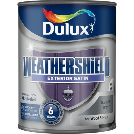 Dulux Weathershield Exterior Satin 750ml Gallant Grey