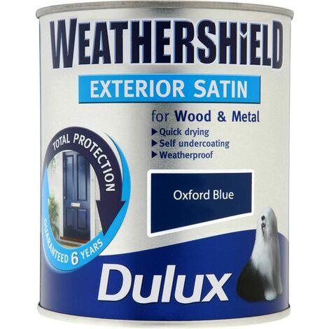 Dulux Weathershield Exterior Satin 750ml Oxford Blue