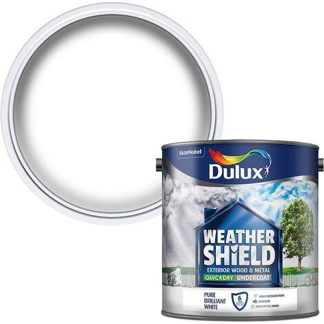 Dulux Weathershield Exterior Undercoat Pure Brilliant White 750ml / 2.5 Litres