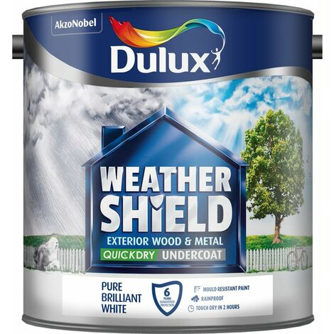 Dulux Weathershield Exterior Undercoat Pure Brilliant White 750ml / 2.5 Litres