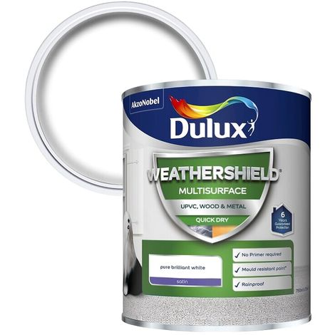 Dulux Weathershield Multi Surface Quick Dry Satin 2.5L (choose colour)
