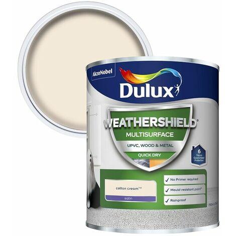 Dulux Weathershield Multi Surface Quick Dry Satin 750ml (choose colour)