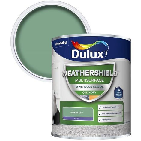 Dulux Weathershield Multi Surface Quick Dry Satin 750ml (choose colour)