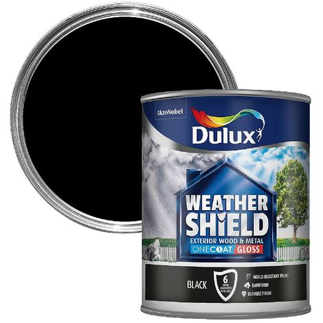Dulux Weathershield One Coat Black Exterior BLACK 750ml