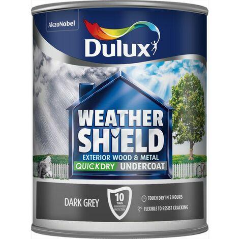 "main image of ""Dulux Weather Shield Exterior Dark Grey Undercoat 2.5l / 750ml Resist Cracking"""
