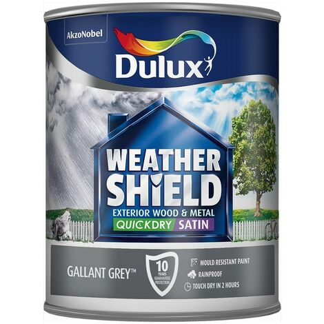 "main image of ""Dulux Retail Weathershield Exterior Satin Paint - Oxford Blue - 750ml"""