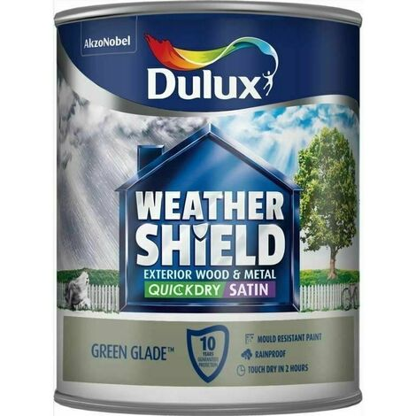 """main image of """"Dulux Retail Weathershield Exterior Satin Paint - Green Glade - 2.5L"""""""