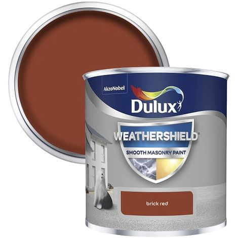Dulux Weathershield Smooth Masonry - 250ml - BRICK RED