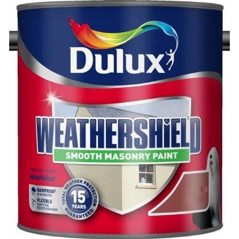 Dulux Weathershield Smooth Masonry Colours BRICK RED 2.5L