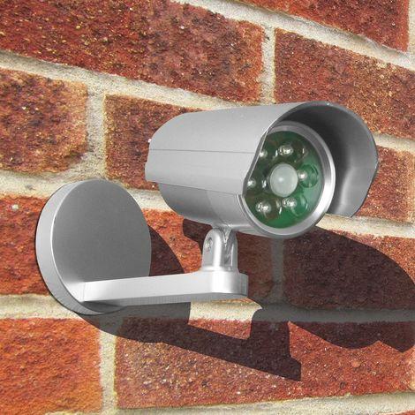 Dummy CCTV Camera Uni-Com with Flashing Light Battery Powered