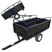 Dump cart 210x76x103 cm with mesh and removable side boards universal connector