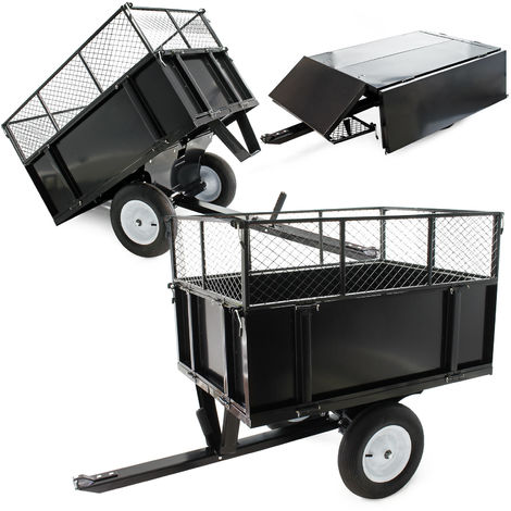 """Dump cart 44.9x29.9x11.8"""" (114x76x30cm) with mesh and removable side boards universal connector"""