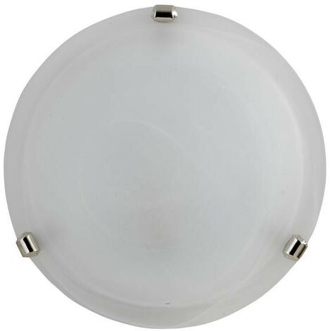DUNA LAMPADA PLAFONIERA DA SOFFITTO E27 1 LUCE 30CM BIANCA