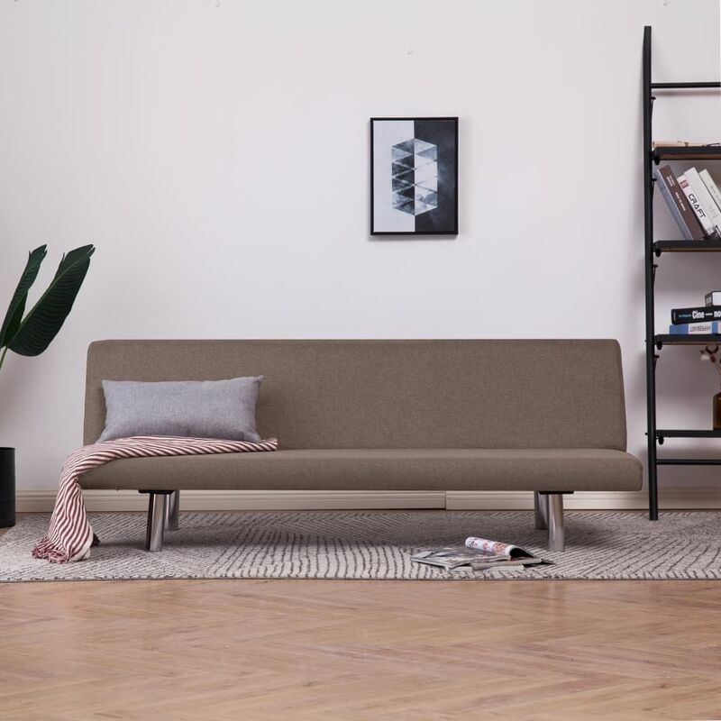 Schlafsofa Polyester Taupe