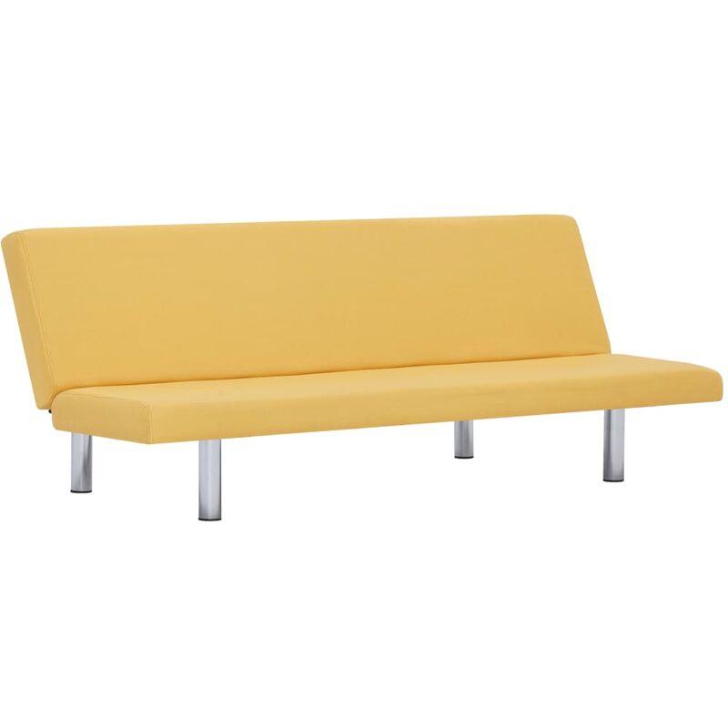 Schlafsofa Polyester Gelb