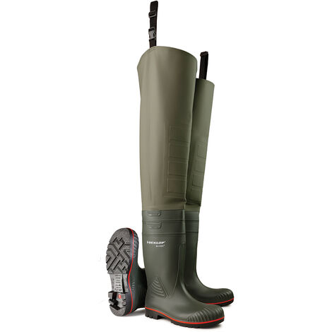 Dunlop - ACIFORT THIGH WADER F/S GRN 11 - Green