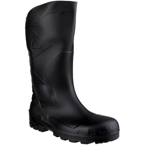 Dunlop Devon Unisex Black Safety Wellington Boots