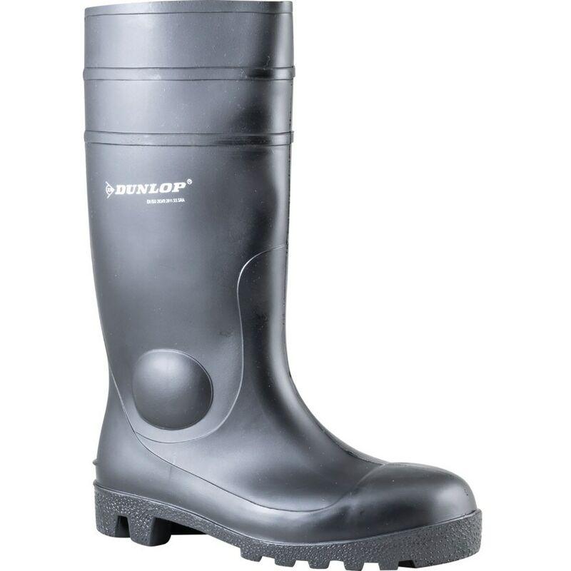 Image of 142PP Protomaster Black Wellington Boots - Size 10.5 - Dunlop