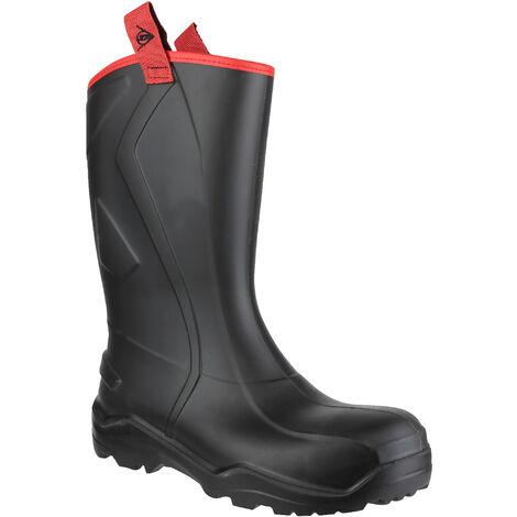 Dunlop Mens Purofort+ Rugged Full Safety Wellington Boots