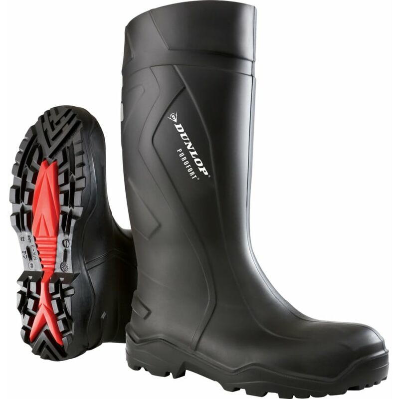 Image of Dunlop C762041 Purofort+ Safety Wellington Boot Black Size-10 (44)