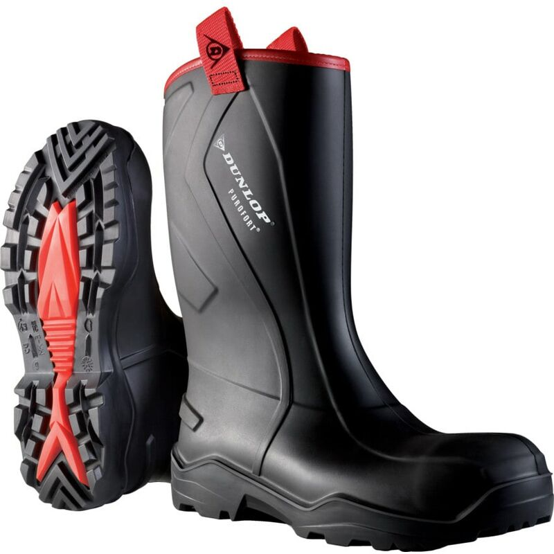 Image of Dunlop Purofort+ Rugged Rigger Boot Black Size 10 (44)
